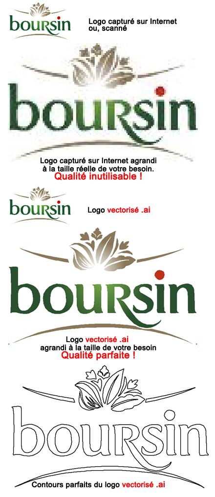 la vectorisation des logos